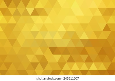Abstract color mosaic background. Gold vector background