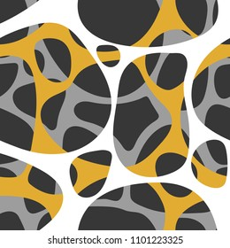 Abstract color open cells seamless pattern. vector illustration.