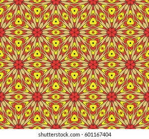 Abstract color pattern in the form of a multicolored mosaic with elements of lace and floral ornament. vector illustration. For textiles, design, wallpapers, greeting cards, products for home