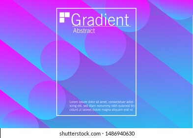 Abstract color pattern of neon color liquid gradient background with modern geometric dynamic motion style Suitable For Wallpaper, Banner, Background, Card, Book Illustration, landing page