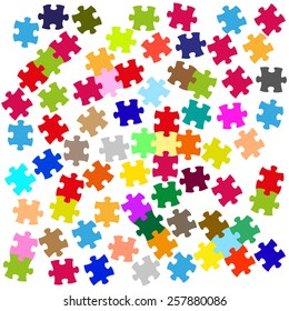 abstract color pieces of puzzle vector graphic