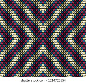 Abstract color seamless knitting pattern background