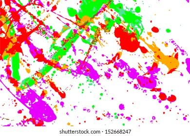 Abstract of color spread