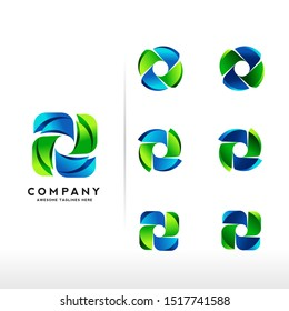 abstract color swirl logo. Corporate identity design element
