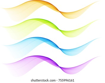 Abstract color transparent waves