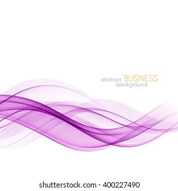 Abstract color wave design element. Purple wave.