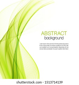 Abstract color waves on white background