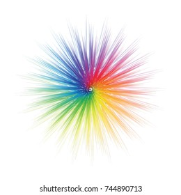Abstract Color Wheel Flare. Vector illustration