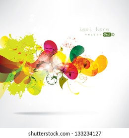 Abstract colored background with geometric elements