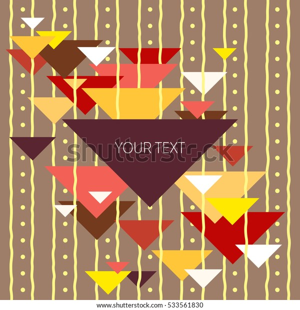 Abstract colored background of the triangles and strips