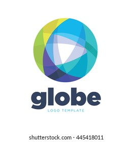 Abstract colored global logo