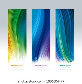 Abstract colored  mesh screen wallpaper background vertical banners.