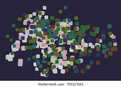 Abstract colored mixed shape pattern. Good for web page, wallpaper, graphic design, catalog, texture or background. Vector illustration graphic.