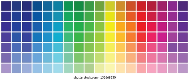 Abstract Colored Palette Guide