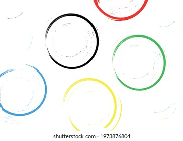 Abstract colored rings on a white background.  Vector graphics.