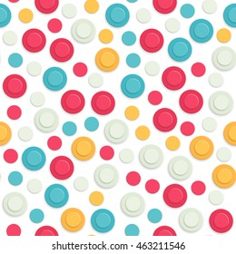 Abstract colored seamless geometric round pattern. Vector illustration background for your business presentations