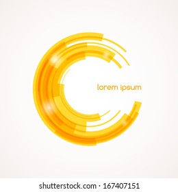 Abstract colored shape for your business idea. Vector editable logo illustration.