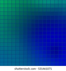 Abstract colored square mosaic tile blue and green background for any design, square format.