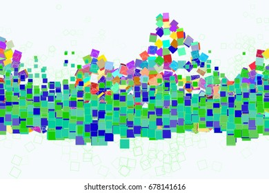 Abstract colored square, rectangle shape pattern. Good for web page, wallpaper, graphic design, catalog, texture or background. Vector illustration graphic.