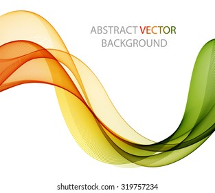 Abstract colored wave on white