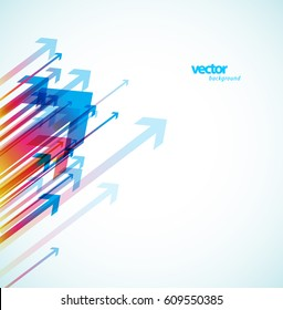 Abstract colorful arrows background wallpaper.