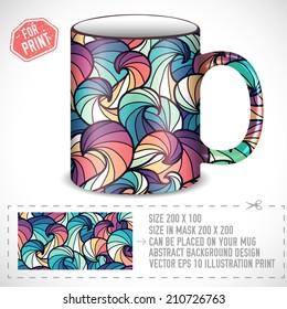mug print design images stock photos vectors shutterstock https www shutterstock com image vector abstract colorful art design print on 210726763