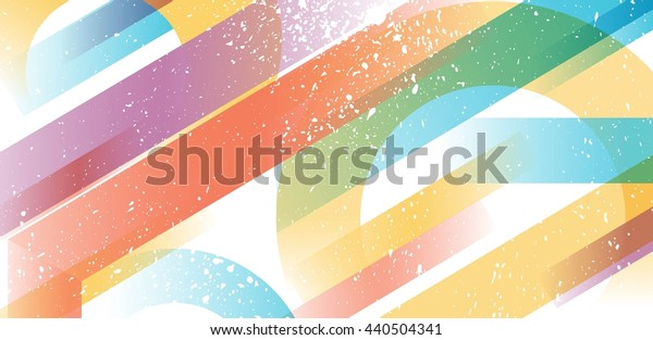 Abstract colorful background. Geometric transparent shapes. Vector illustration