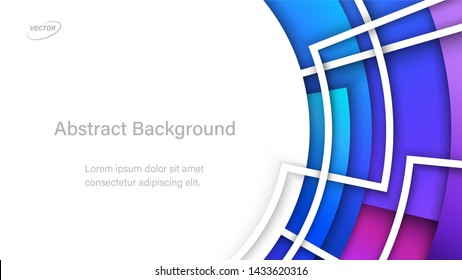 Abstract Colorful Background. Geometric Vector Illustration. Aspect Ratio 16:9. EPS 10 Format.