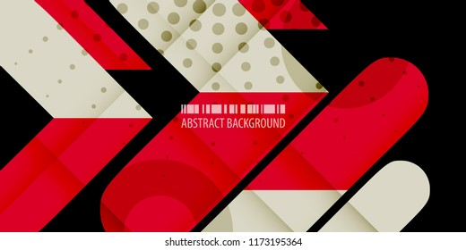Abstract colorful background graphics template with blended multiple arrowheads and bars