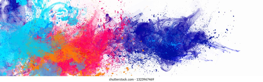 Abstract colorful background, Holi for color festival of India celebration