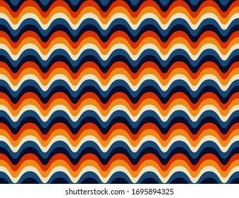 Abstract . colorful background pattern seamless retro 70s. design for pillow, print, fashion, clothing, fabric, gift wrap. Vector.