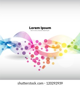 Abstract colorful background with place for text - Vector
