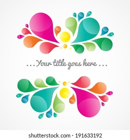 Abstract colorful background with place for your text, drop element