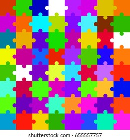 Abstract colorful background from puzzle. Vector pattern
