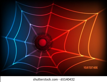 Abstract colorful background with spider web. EPS10 vector illustration.
