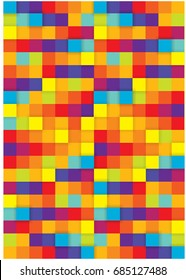abstract colorful background with squares harmonies