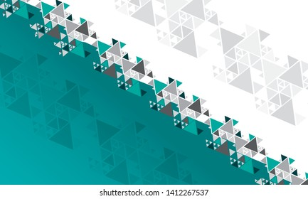 abstract colorful background in triangles of different size