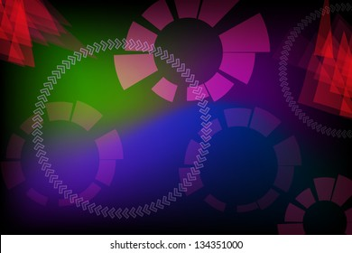 The abstract colorful background vector