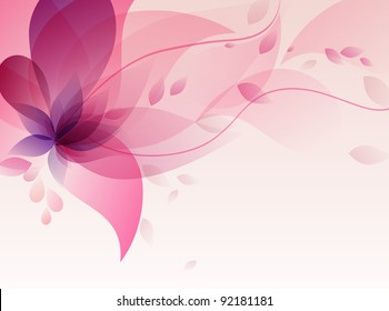 Abstract colorful background .with pink floral
