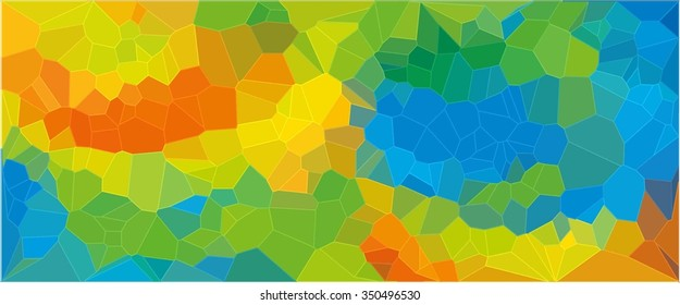 Abstract Colorful Background in Yellow, Blue and Green - 2016 Rio de Janeiro