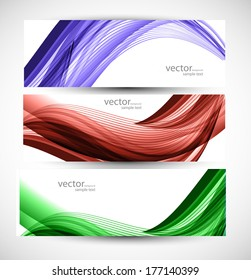 abstract colorful banner set Vector illustration