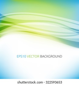 Abstract colorful blue and green background. EPS 10 vector illustration, transparency and gradients used