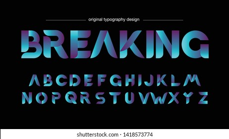 Abstract Colorful Blue Purple Typography Design