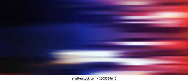 Abstract Colorful Blurred Header Background Template, Futuristic Poster or Landing Page Background Design - Vector Illustration