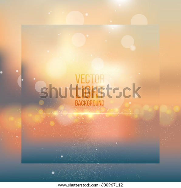 Abstract colorful bokeh background. Vector illustration.