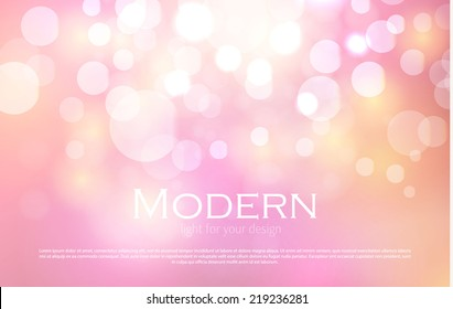 Abstract colorful bokeh light background. Vector illustration