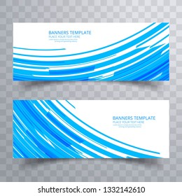 Abstract colorful bright headers set design
