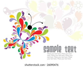 abstract colorful butterfly illustration background