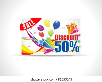 abstract colorful celebration discount card vector illustration