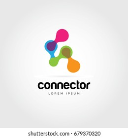 Abstract Colorful Chain Connection Logo Symbol Icon